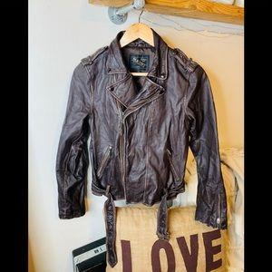 Vintage Old Navy brown Moto jacket.